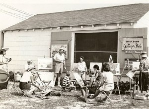 vintage photo of art class