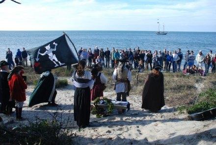 pirates on the beach
