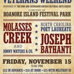 carolina veterans weekend to feature molasses creek