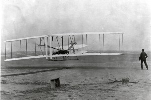 old photo of first flight