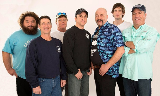 "Meet this season's Wicked Tuna captains (from left to right): Captain T.J. Ott (The Hot Tuna), Captain Paul Hebert (The Wicked Pissah!), Captain Bill Monte (The Bounty Hunter), Captain Dave Carraro (The FV-Tuna.com), Captain Dave Marciano (The Hard Merchandise), Captain Tyler McLaughlin (The Pin Wheel), and Captain Bill ""Hollywood"" Muniz (The Lily)."