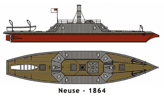 Draftman's drawing of the CSS Neuss.