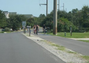 Kill Devil Hills multi-use path along Bay Drive. Photo, Kill Devil Hills