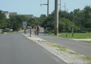 Kill Devil Hills multi-use path along Bay Drive. Photo, Kill Devil Hills