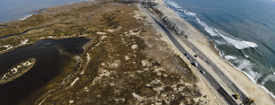 The Rodanthe S Curves during construction following Hurricane Irene. Photo, Michelle Connor, ChellShots.