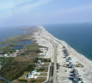 Looking north to the S Curves from Rodanthe. Photo USFWS