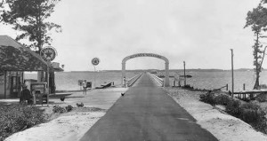 Before there was a Wright Memorial Bridge--1930s toll bridge between Point Harbor and Kitty Hawk.