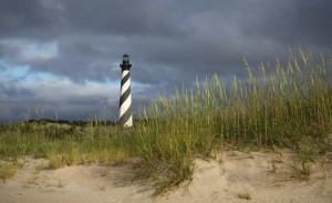 Cape Hatteras Lighthouse, one of the many historic points of interest along the Outer Banks National Scenic Highway.