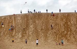 Jockey's Ridge in use. Photo, CNN.