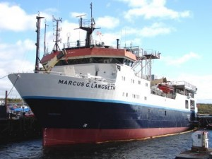 The R/V Marcus Langseth, the research vessel scientists will be using.