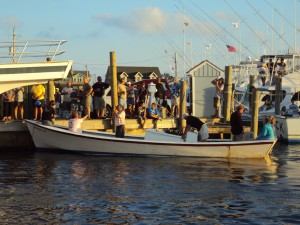 A scene from Day at the Docks in Hatteras Village.