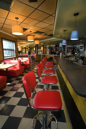 The interior of the Blue Point in Duck, one of the restaurants mentioned in the article.