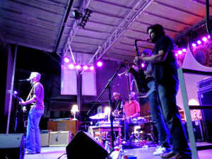 JJ Grey and Mofro, Friday night at the Mustang Music Festival.