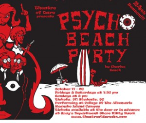 Pscho Beach Party poster