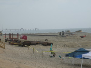 The Nags Head beach nourishment project