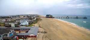 Nags Head nourished beach looking north toward Jennette's Pier. Photo, Coastal Science & Engineering.