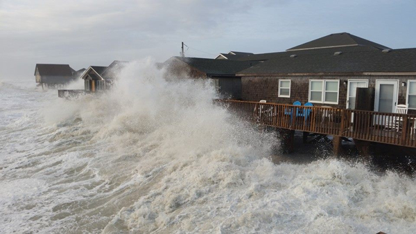Hotel in Buxton 12/8/14. Source, Hidden Outer Banks Facebook Page.
