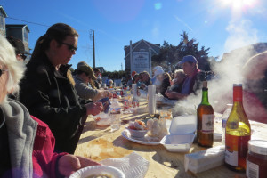 The 2014 Ocracoke Oyster Roast was a huge success. Photo, Connie Leinbach, Ocracoke Current.