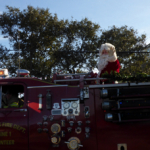 an all-american christmas parade on hatteras
