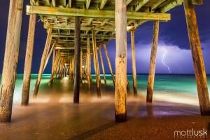 avalon pier and lightning