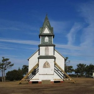 old church on deserted island