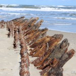 shipwreck surfaces on corolla beach