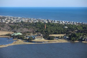 aerial view of corolla light