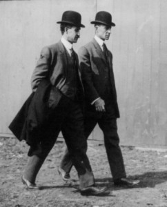 the Wright Brothers walking