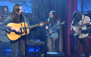 Roadkill Ghost Band performing on David Letterman.