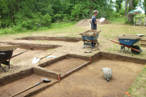 Excavation site in Bertie County searching for clues to the fate of the Lost Colony. Photo, Outer Banks Voice