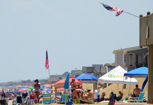 Kitty Hawk beach, July 4, 2015. (Photo, Kip Tabb)