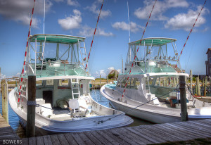 Boats ready for the blessing of the fleet at the Day at the Docks. Photo, Donnie Bowers