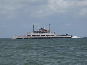 Ferry passing Hatteras Inlet. Photo, Kip Tabb