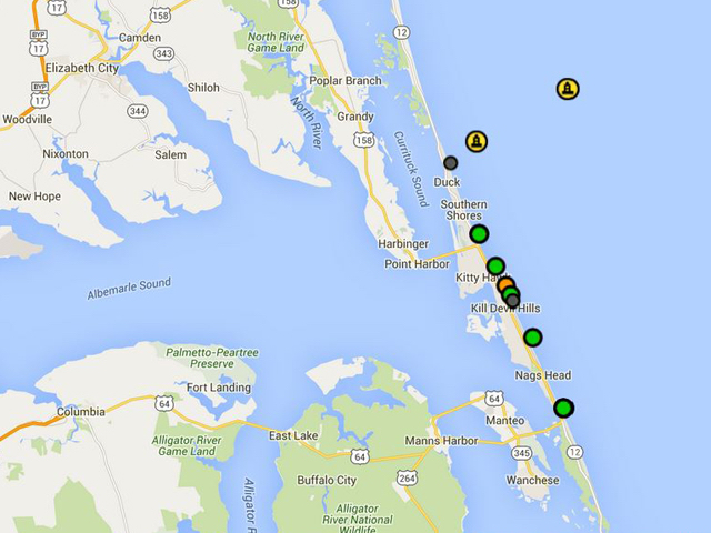 Map oregon inlet for Oregon inlet fishing center camera