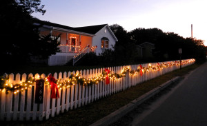 Lights on Ocracoke Island. Photo, Connie Leinbach.