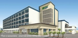 Rendering of renovated Holiday Inn Express Nags Head.