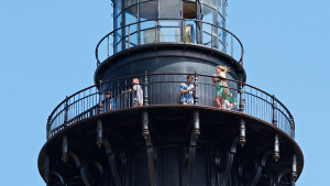 Climbing Cape Hatteras Lighthouse, one of the most popular things to do on Hatteras Island.