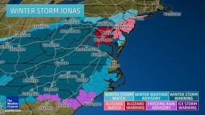 winter storm jonas predictions