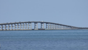 Bonner Bridge from the south side of Oregon Inlet. Photo, Kip Tabb