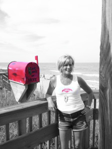 Sue Goodrich and her Little Red Mailbox of Hope.