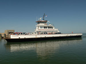 NC Ferry Sytem Ocracoke coming into dock. Photo, NCDOT