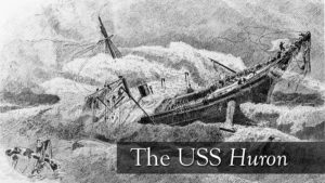 Rendering of the sinking of the USSS Huron.