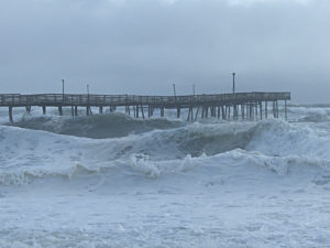 Avalon Pier, 8:30 a.m. Saturday, September 3. Photo, Kip Tabb