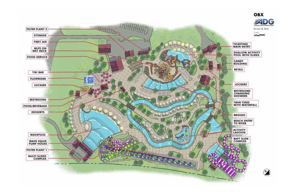 site map of H2OBX waterpark