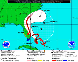 update on hurricane matthew