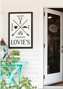 Lovie's entrance