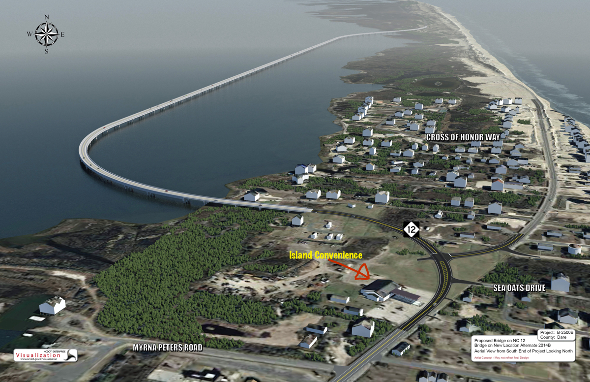 New s curves jug handle bridge in rodanthe hidden outer banks artists rendering of the rodanthe jug handle geenschuldenfo Image collections