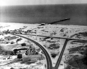 Whalebone Junction, probably just after WWII. Photo, Outer Banks History Center.