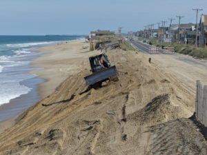 Will this be the last time NCDOT has to repair the Beach Road dune? If nourishment works it will be. Photo Kip Tabb