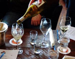 Wine tasting as at Trio in Kitty Hawk.